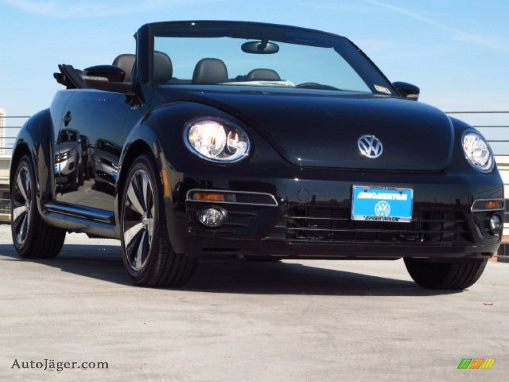 2014 Volkswagen Beetle R Line Convertible In Deep Black
