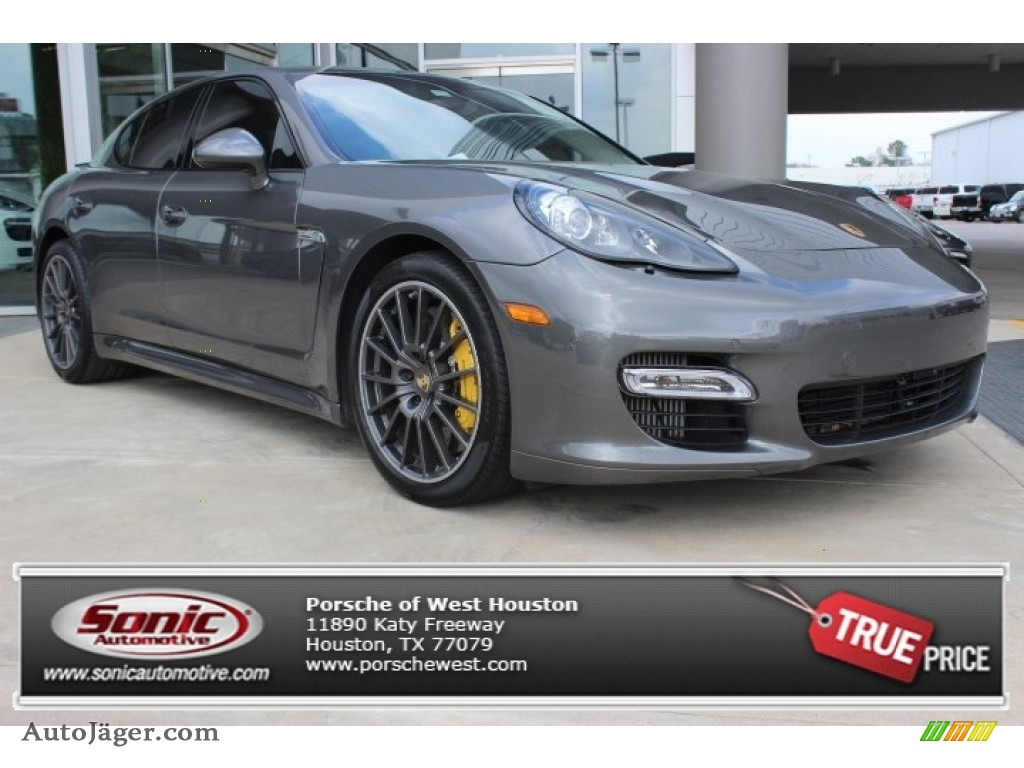 2012 Porsche Panamera Turbo S In Agate Grey Metallic
