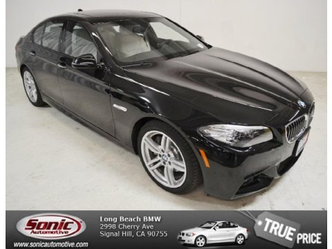 Jet Black 2014 BMW 5 Series 535i Sedan
