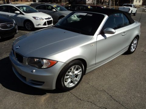 Titanium Silver Metallic 2008 BMW 1 Series 128i Convertible