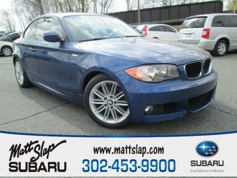 Montego Blue Metallic 2011 BMW 1 Series 128i Coupe
