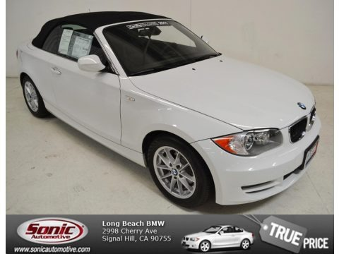 Alpine White 2011 BMW 1 Series 128i Convertible