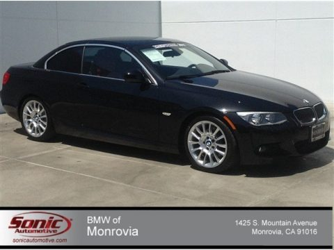 Black Sapphire Metallic 2011 BMW 3 Series 328i Convertible