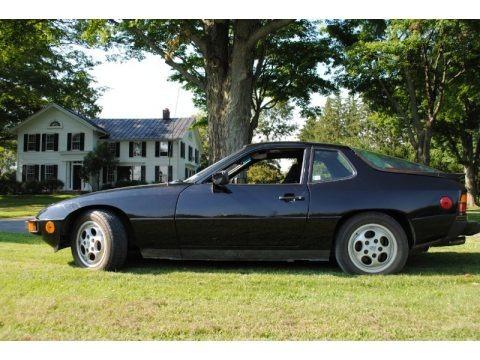 Black 1987 Porsche 924 S