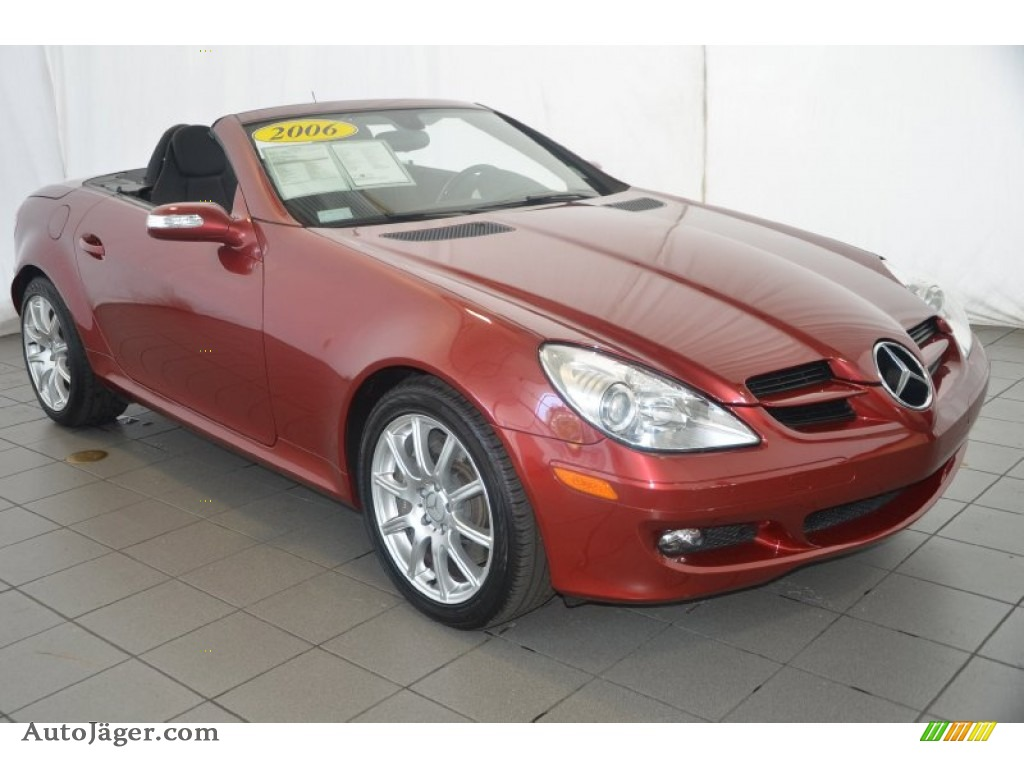 2006 Mercedes Benz Slk 350 Roadster In Firemist Red Metallic 090852