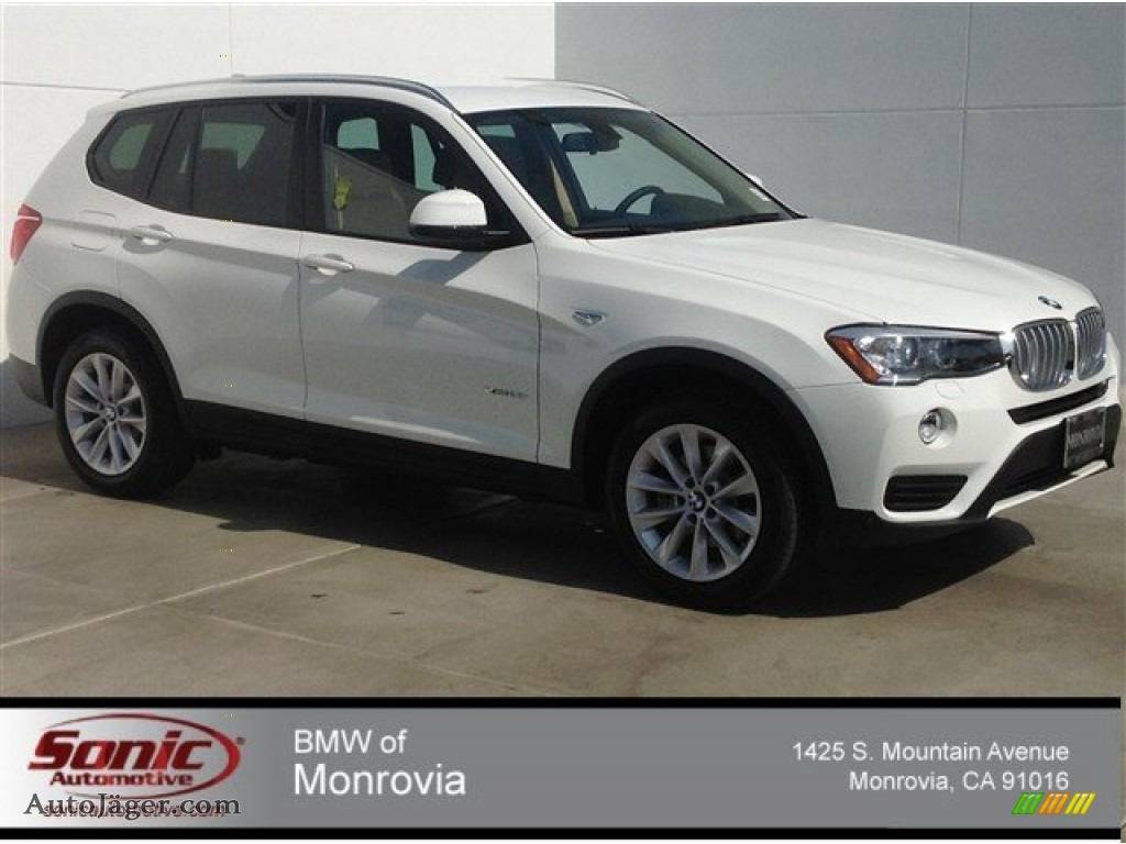 2015 Bmw X3 Xdrive28i In Alpine White D45339 Auto