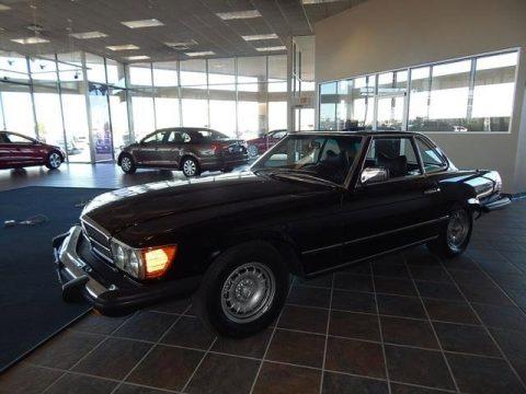 Black 1977 Mercedes-Benz SL Class 450 SL roadster