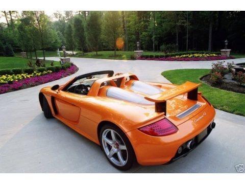 Metallic Orange Paint to Sample 2005 Porsche Carrera GT