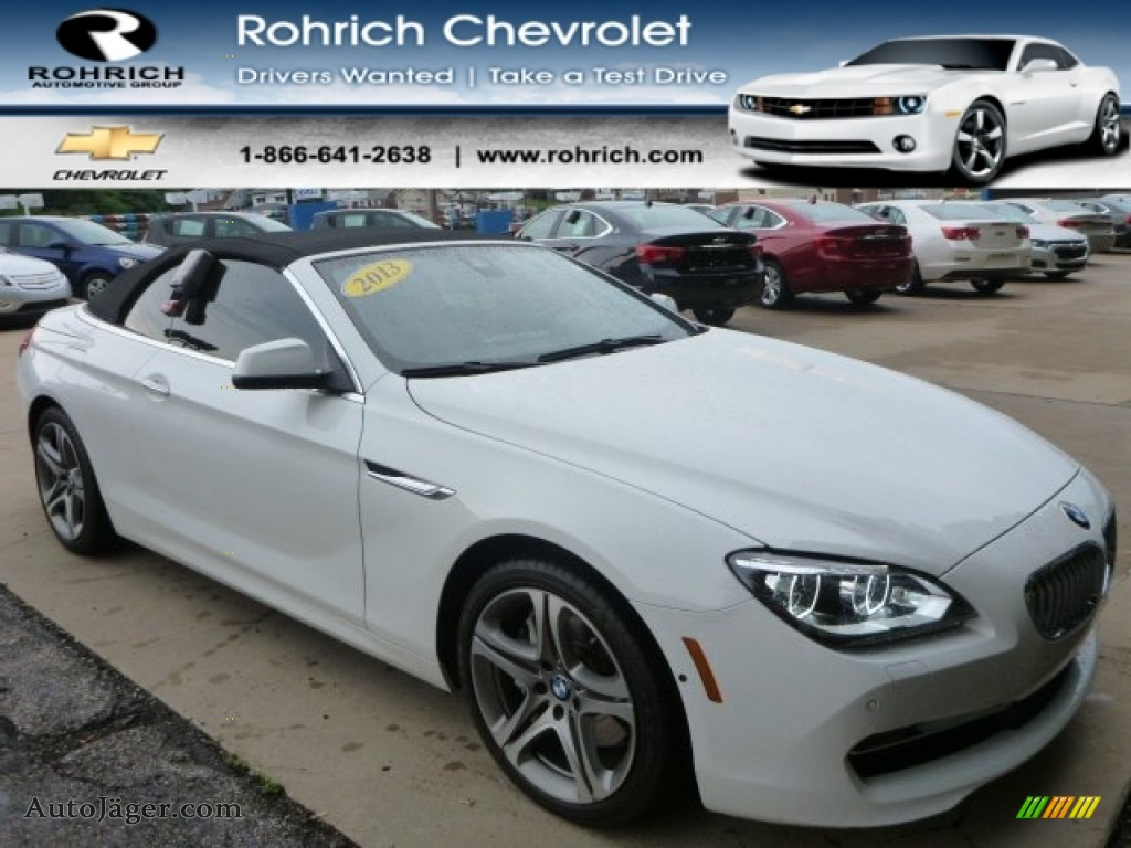 BMW Series I XDrive Convertible In Alpine White X - 2013 bmw 650i convertible for sale