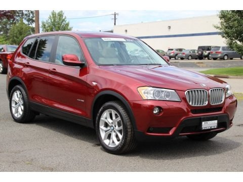 Vermilion Red Metallic 2014 BMW X3 xDrive35i