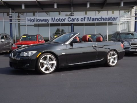 Jet Black 2011 BMW 3 Series 335i Convertible