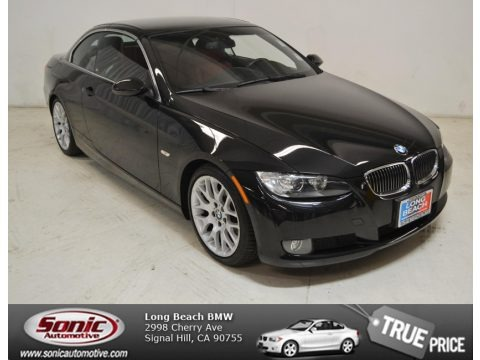 Black Sapphire Metallic 2008 BMW 3 Series 328i Convertible