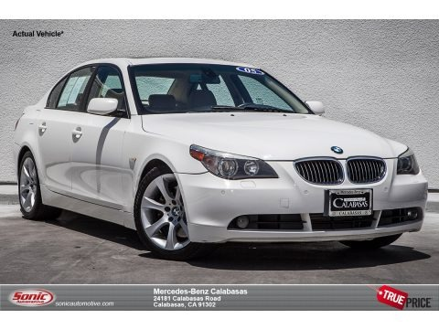 Alpine White 2005 BMW 5 Series 545i Sedan