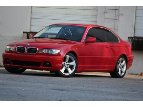 Electric Red 2005 BMW 3 Series 325i Coupe