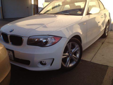 Alpine White 2012 BMW 1 Series 128i Coupe