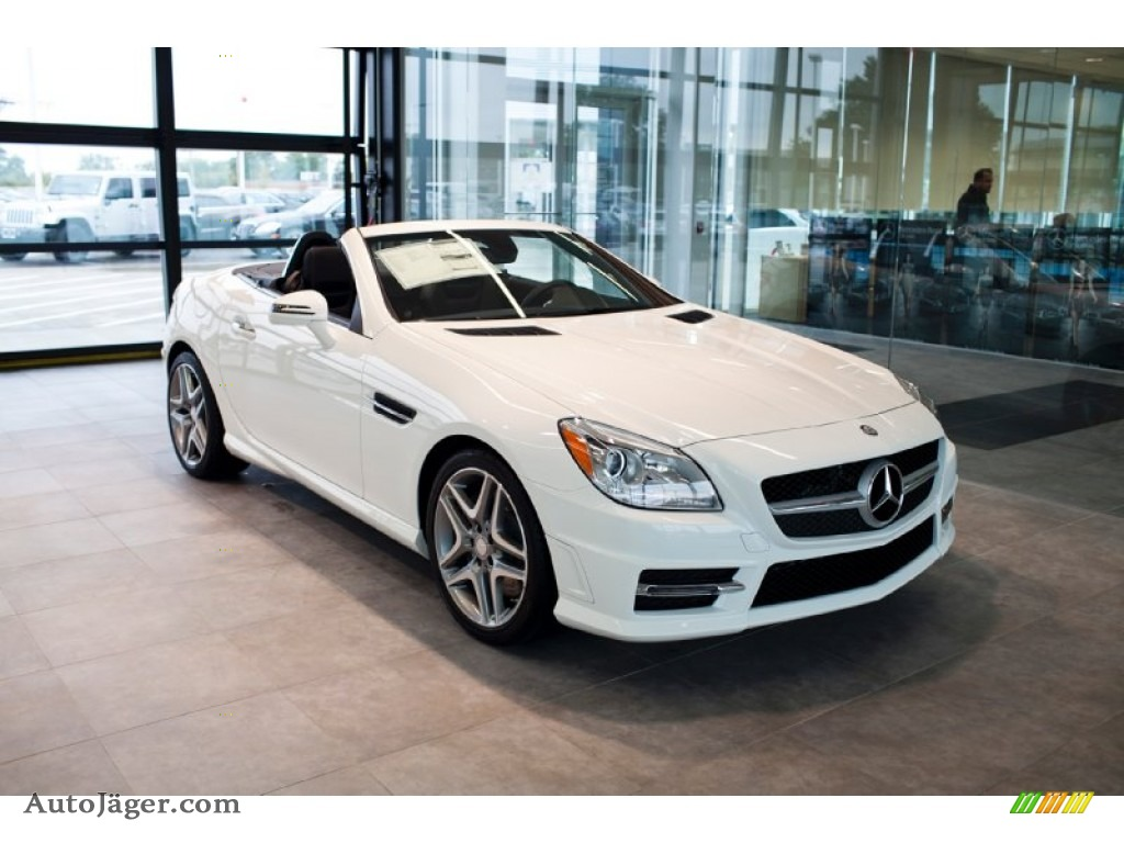 2015 mercedes benz slk 350 roadster in polar white 102109 auto j ger german cars for sale. Black Bedroom Furniture Sets. Home Design Ideas