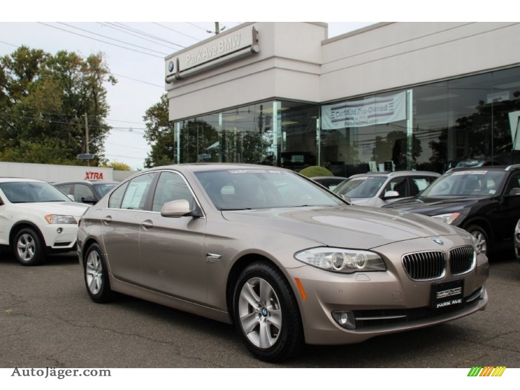 Cashmere Silver Metallic Cinnamon Brown BMW 5 Series 528i XDrive Sedan