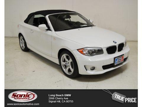 Alpine White 2012 BMW 1 Series 128i Convertible