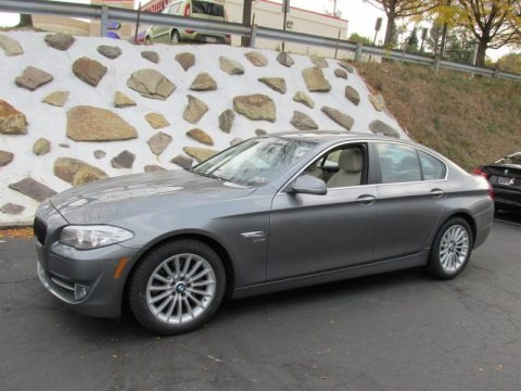 Space Gray Metallic 2012 BMW 5 Series 535i xDrive Sedan